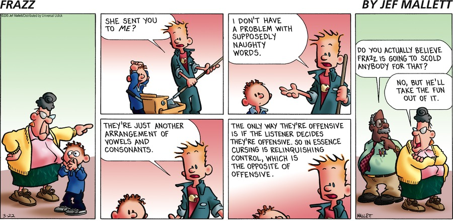 Definition comic strip profanity
