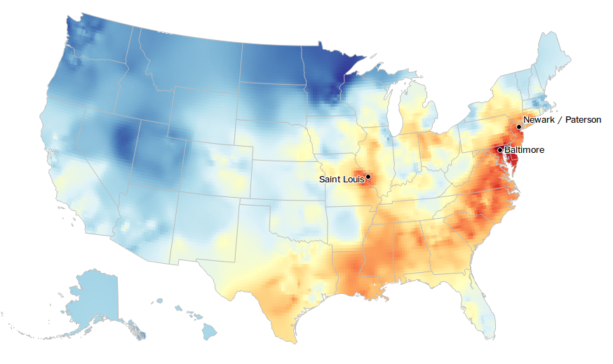Language Log Interactive Dialect Map - Accent map of us