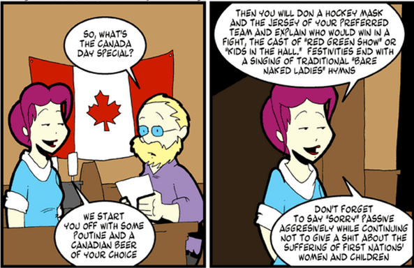 pics for gt canadian stereotypes comics