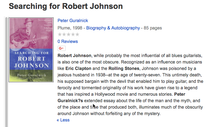 The Search For Robert Johnson - The Movie Database (TMDb)