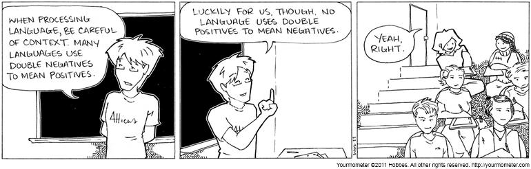 double negative grammar examples