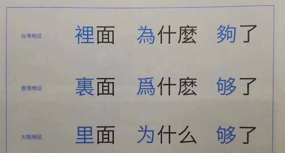 Language Log » Variation