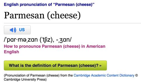 Kraft parmesan cheese ingredients
