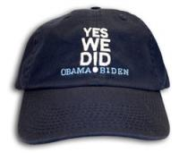 Obama Yes We Did Embroidered Navy Hat