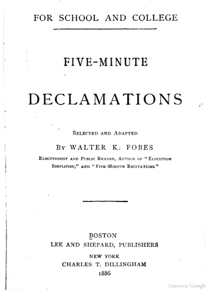 declamations