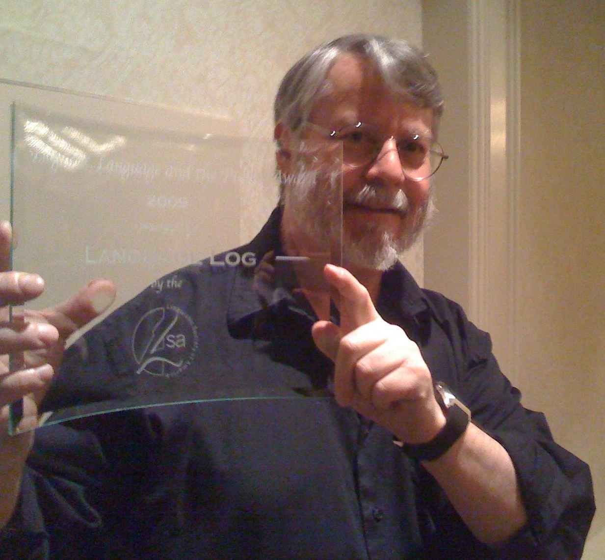 Mark with the LSA award to Language Log